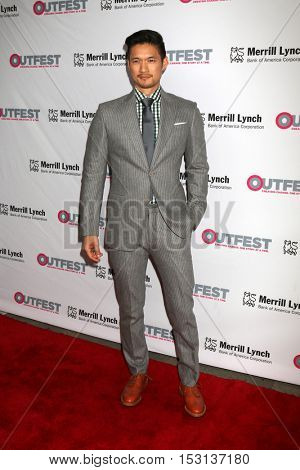 LOS ANGELES - OCT 23:  Harry Shum Jr at the 2016 Outfest Legacy Awards at Vibiana on October 23, 2016 in Los Angeles, CA