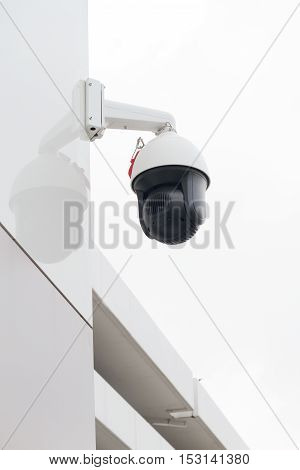 CCTV Security on the wall sue for background