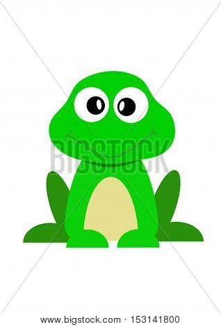 frog,green cartoon illustration vector white happy nature