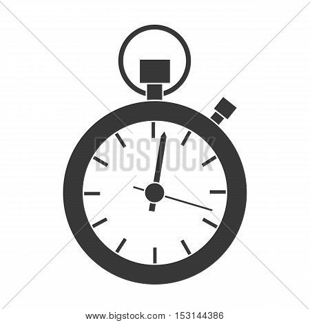 Stopwatch icon in black style isolated on white background. Logistic symbol vector illustration.