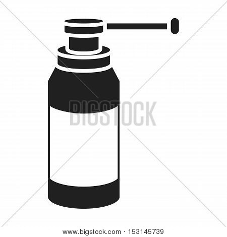 Throat spray icon in black style isolated on white background. Medicine and hospital symbol vector illustration.