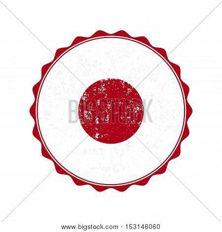 Japan flag stamp with grunge. Vector illustration