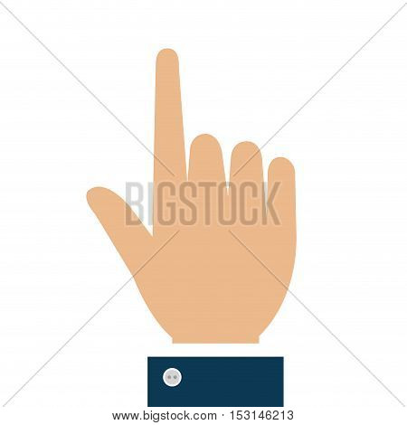 hand human touch isolated icon vector illustration design