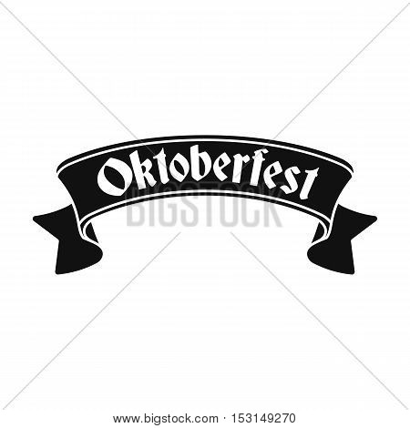 Oktoberfest banner icon in black style isolated on white background. Oktoberfest symbol vector illustration.