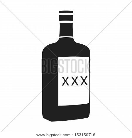 Alcohol icon in black style isolated on white background. Wlid west symbol vector illustration.