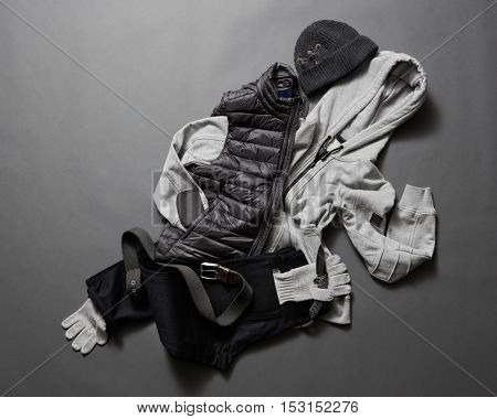 Collection of men's warm clothes