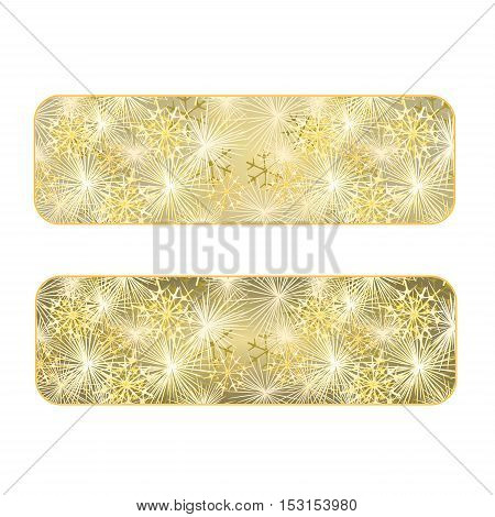 Banner New Year fireworks gold background vector illustration