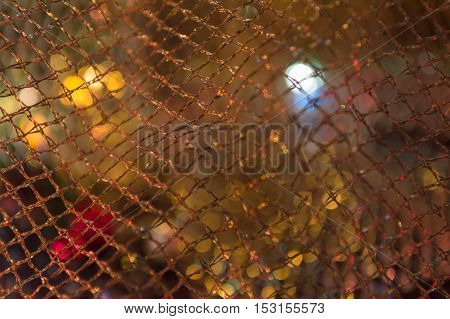shine golden holiday background with golden net