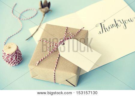 Thank You Gratitude Gift Concept