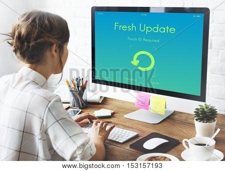 Fresh Update Upgrade New Version Concept