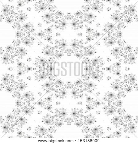 Round vintage abstract rendering seamless tile design