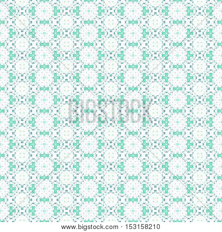 Green vintage ancient seamless endless graphic pattern design