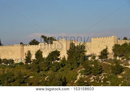 Old City of Jerusalem on the part of the mill.