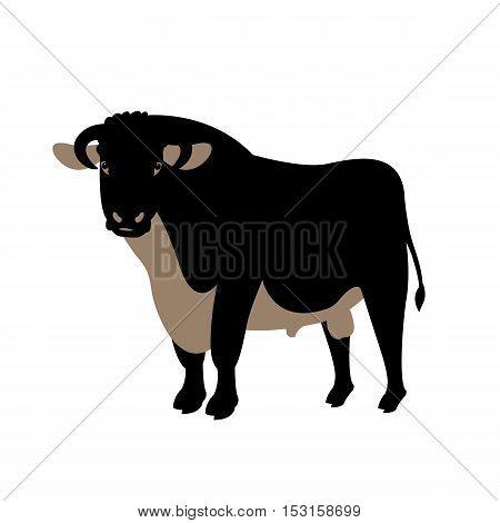adult bull vector illustration style Flat profile