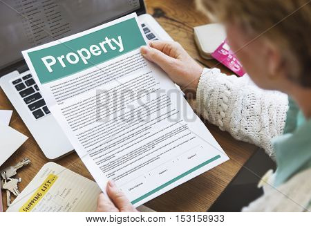 Property Release Form Assets Concept