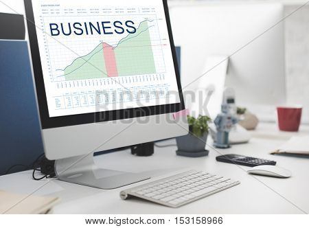 Business Analysis Graphs Marketing Goals concept