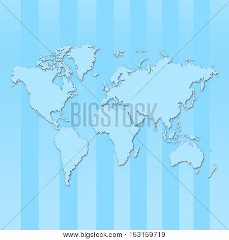 Blue map