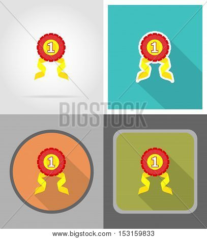first sign flat icons vector illustration isolated on background