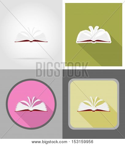book flat icons vector illustration isolated on background