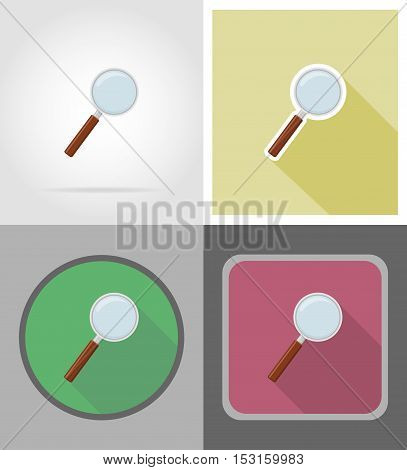 magnifier flat icons vector illustration isolated on white background