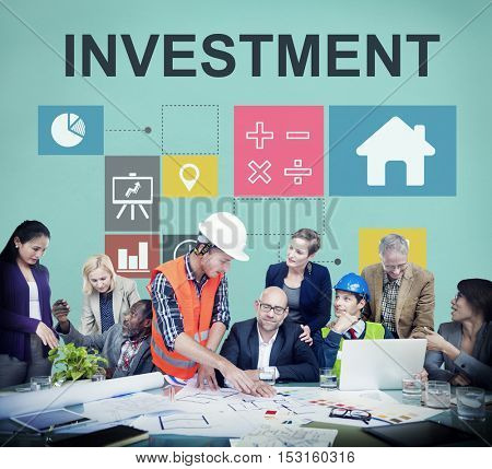 Investment Property House Chart Concept