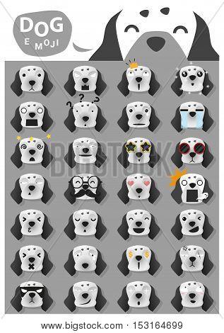 Dog emoji icons , vector , illustration