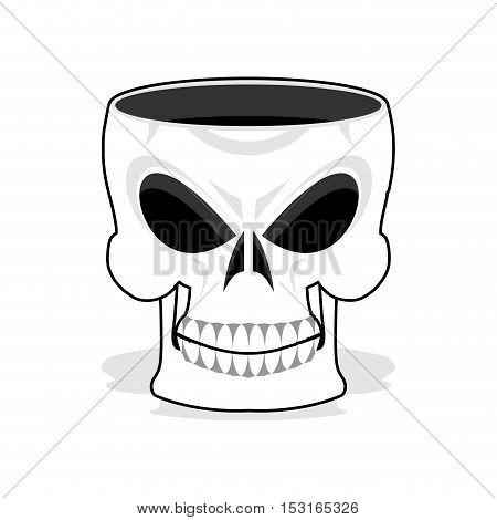Skull Jewelry Box. Skeleton Basket. Terrible Pirate Jewellery