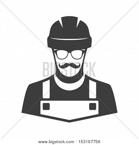 Construction Workers Icon - Vector. Worker vector illustration.