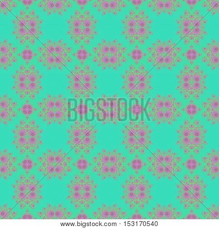 Soft pastel sweet art deco budoir cyan and pink design background