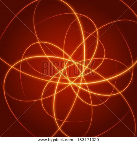 Smooth Light Orange Waves Lines Vector Abstract Background.