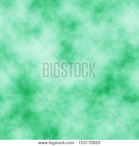 Abstract diffuse green colored smoke cloudy background