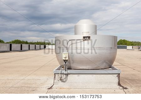 on an flat roof there cooling air conditioning