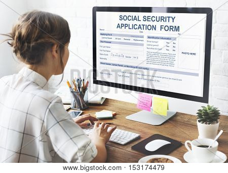 Social Security Application Form Concept