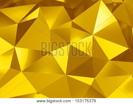 3d illustration of beautiful geometric three dimensional metal abstract in studio
