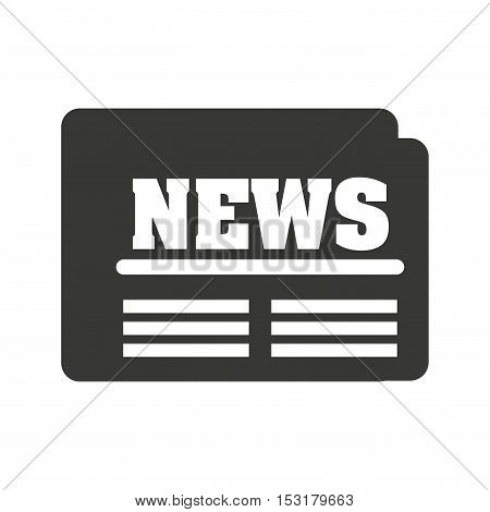 newspaper flat isolated icon vector illustration design