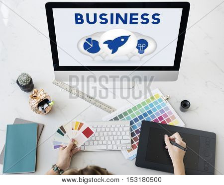 Business Entrepreneur Target Strategy Concept