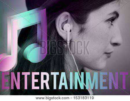 Digital Music Streaming Online Entertainment Media Concept