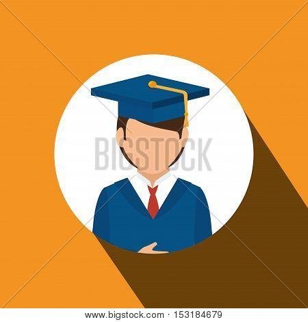 student graduated avatar isolated vector illustration design