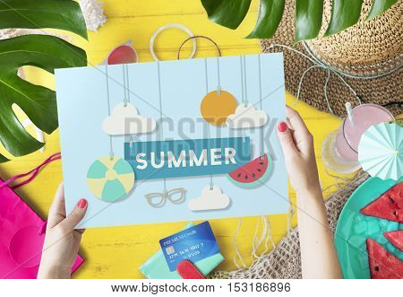 Summer Break Fun Party Banner Concept