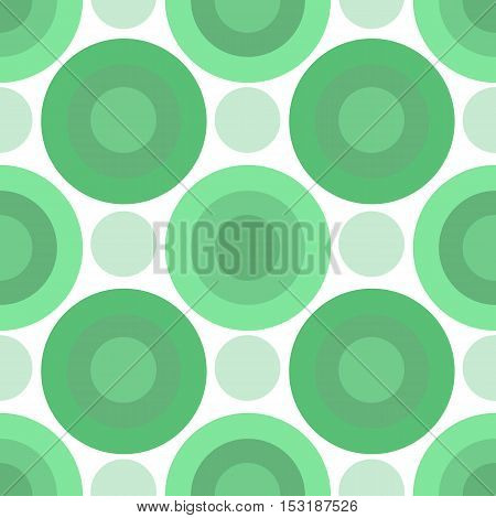 Green circles. Nice simple seamless pattern, made with green hue.