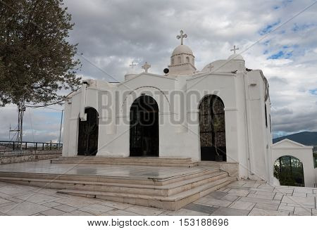 Chapel Of Saint George On Mount  Lycabettus