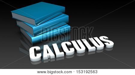 Calculus Class for School Education as Concept 3D Illustration Render