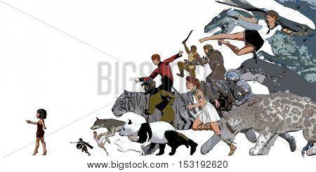 Story Book for Children Illustration as a Background 3D Illustration Render
