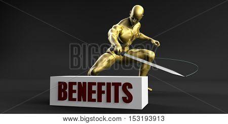 Reduce Benefits and Minimize Business Concept 3D Illustration Render