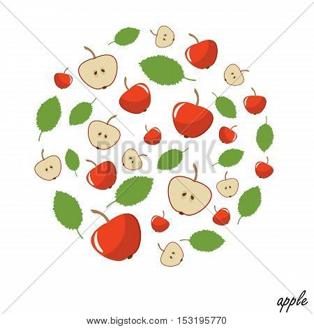 modern circle design with an apple. It can be used for the print clothes and pillows