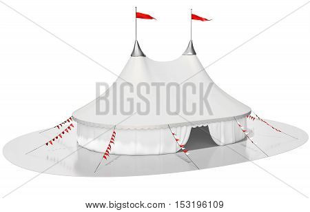 3D Circus Tent On White Background