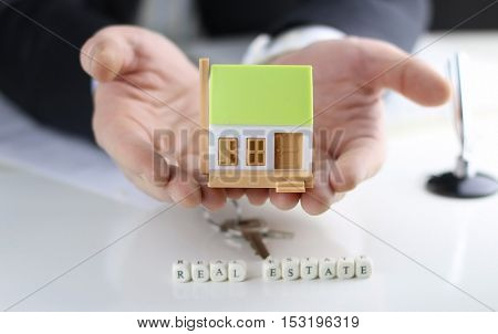 a small one-story layout of decent homes in the hands of sales manager