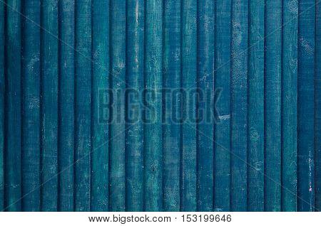 Vintage Wooden Dark Blue Vertical Boards
