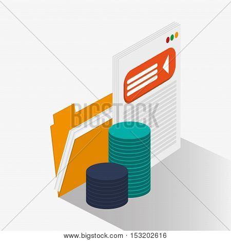 File and website icon. Social media marketing and communication theme. Colorful design. Vector illustration