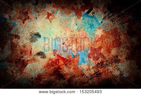 grunge Stars on the wall, abstract background